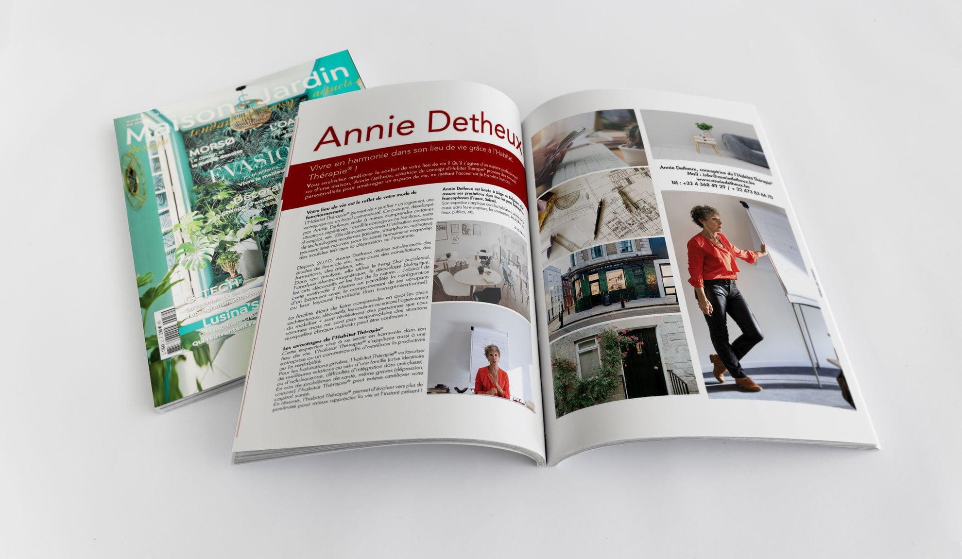Article Annie Detheux - magazine Maison et jardin actuels